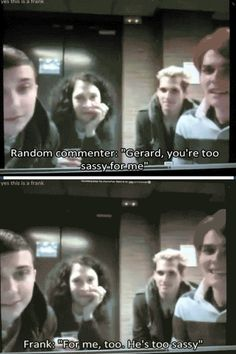 Frank Iero / My Chemical Romance   funny moments :)