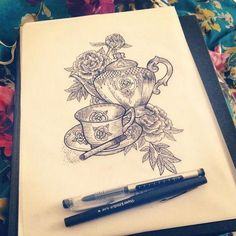amberjaneillustrations: Love days off drinking tea and drawing in bed. Tea and cigarette memorial piece for a best friend that we will hopefully be tattooing at the great British tattoo show Body Art Tattoos, New Tattoos, Cool Tattoos, Random Tattoos, Teapot Tattoo, British Tattoo, Coffee Infographic, Coffee Tattoos, Tattoo Shows