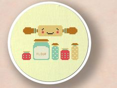 Rolling out Sweets. Baking Cross Stitch PDF Pattern