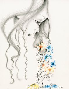 Pencil Drawing Illustration Fine Art Giclee by ABitofWhimsyArt