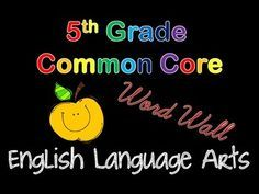 Aligned to 5th grade Common Core, these can be used for centers, flash cards, or your word wall!   176 vocabulary cards:  - Are color coded by strand - Include a definition  Includes one set in print and another in cursive!