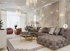 Luxury Sofa, Luxury Living, Living Room Designs, Living Room Decor, Classy Living Room, Interior Architecture, Interior Design, Lounge Suites, Home Office Decor