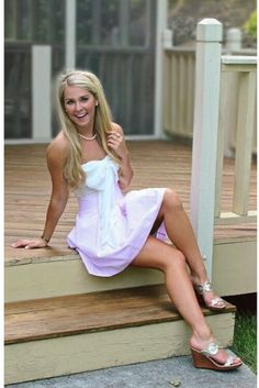 Lauren James Pleated Skirt styled with the cutest white bow top! #laurenjames