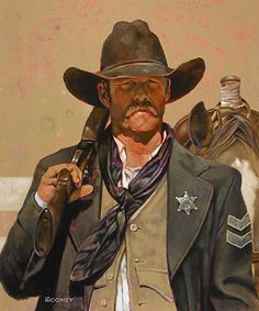 Lawman by Bill Moomey Oil ~ 35 x 30