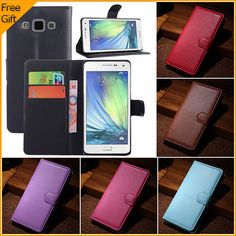 Luxury Business Style Wallet Flip Leather Case For Samsung Galaxy A5 A500 Phone Cover Skin Pouch With Card Holder Stand & Gift | Price: US $4.19 | http://www.bestali.com/goto/32253913695/10