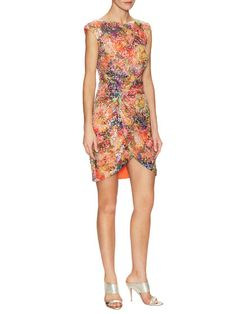 Multicolored Sequin Twist Dress by Nicole Miller at Gilt