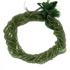 Green Apatite Gemstone Green Apatite Stone Apatite Rondelle Green Apatite Green Apatite Beads Green Apatite Faceted Rondelle 3 4MM