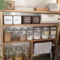 Kitchen Dining, Kitchen Decor, Kitchen Bar Design, Japanese House, Minimalist Living, Tiny Living, Housekeeping, Cool Kitchens, Kitchen Organization