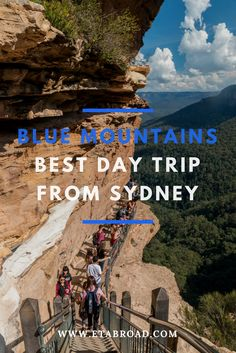 The best day trip from Sydney is going to Blue Mountains. You can go with many different tours or go by yourself just by train. There is a lots what you can see only there.