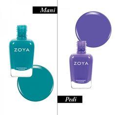 Team Zoe's Vacation Mani-Pedi Combos | The Zoe Report. Mani - Talia, Pedi - Serenity