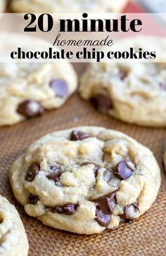 Easiest Chocolate Chip Cookie recipe is a simple chocolate chip cookie recipe that makes quick and easy homemade chocolate chip cookies - no mixer necessary, no chilling needed. and easy chocolate chip cookies Easiest Chocolate Chip Cookie Recipe Easy Cookie Recipes, Baking Recipes, Dessert Recipes, Easy Homemade Desserts, Simple Recipes, Fast Recipes, Best Homemade Cookie Recipe, Basic Cookie Recipe, Easy Homemade Cookies