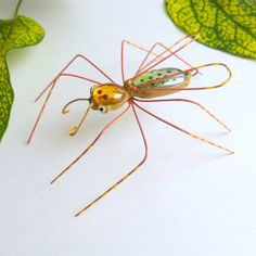 Flying Mystical Spider in Fall Colors Large by SpiderwoodHollow