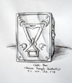 "My paintings——<Saint Seiya>Hand painted.My own design Saint---Triangle Australis Bronze Saint Tess. 2014.10.7下午完成了戴丝的圣衣箱([自己人设].水性笔+水彩笔)。戴丝,南三角座青铜圣斗士。英国爱丁堡人,与山案座白银圣斗士加尔文是同乡。常年在撒哈拉沙漠修行,在沙漠中神出鬼没而被当地人称为""沙漠女鬼""。绝招:六星飞盘;沙漠漩涡。 (Triangle Australis[TrA] Cloth Box)"
