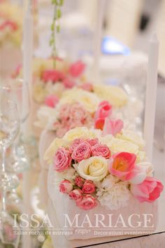 Aranjamente florale nunta trandafiri minirose roz pal orhidee alba masa de oglinda IssaEvents 2017