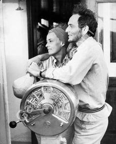 Jeanne Moreau & Pierre Cardin.