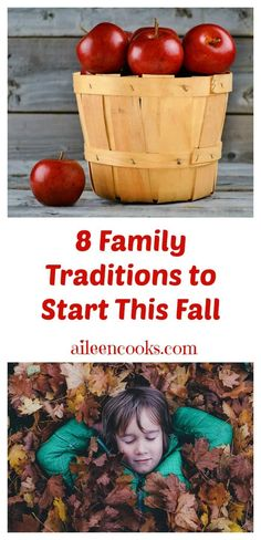 8 Family Traditions to Start This Fall Fall is such a fun time to get cozy with your family and create some lasting memories. My favorite way to do this is to create family traditions Autumn Activities For Kids, Fun Activities To Do, Creative Activities, Traditions To Start, Family Traditions, Art For Kids, Crafts For Kids, Fall Family, Fall Diy