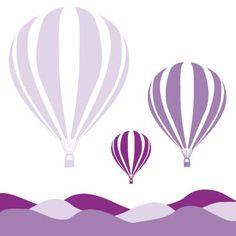 hot air balloons - Canvas Wall Art :: Things That Go Art Wall Kids, Nursery Wall Art, Art For Kids, Canvas Wall Art, Balloon Illustration, 3rd Grade Art, Stencil Patterns, Modern Kids, Kirigami