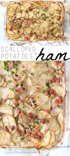 Creamy rich and deeply satisfying scalloped potatoes and ham is one of those few recipes that the entire family is not only on board with but super excited about. Dairy Free Recipes, Vegan Recipes Easy, Easy Dinner Recipes, Beef Recipes, Easy Meals, Cooking Recipes, Potato Recipes, Amazing Recipes, Gluten Free