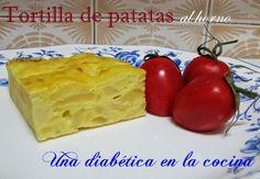 Una diabética en la cocina: Tortilla de patatas al horno Dairy, Pudding, Cheese, Html, Desserts, Food, Spanish Omelette, Cooking Recipes, Food Cakes