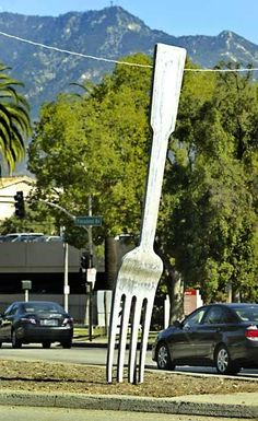 fork in the road, Pasadena, CA.
