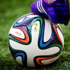The 2014 World Cup ball the Brazuca. I want one!