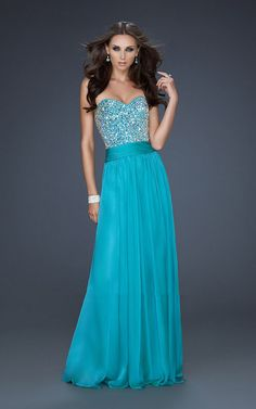 Peacock La Femme 17498 Strapless Sweetheart Neckline Beading Prom Dress This 2013 La Femme Dress would be perfect for Prom, Pageants, Winter Formals, and even Special Occasions. You will definitly catch everyone's attention and everyone's jaw will drop! This Phenomenal 17498 Dress by La Femme features a Simple Sweetheart Neckline with Encrusted Beadwork on the Bustline.