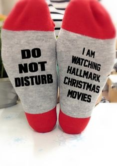 I'm Watching Hallmark Christmas Movies Socks. If you love Hallmark Christmas Movies you will NEED this Hallmark Christmas Movie Watching Socks SVG file! Spend your Christmas in comfort and style in this cute and fun Socks. I believe they will bring you and your family a surprise and happiness at Christmas. Merry Christmas, Diy Christmas Gifts, All Things Christmas, Christmas Holidays, Christmas Decorations, Christmas Ornaments, Christmas Outfits, Christmas Porch, Christmas Ideas