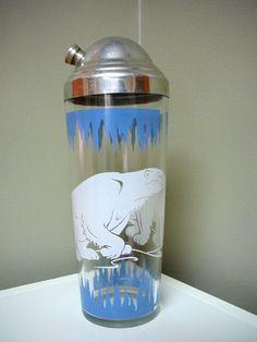 Vintage Polar Bear Cocktail Shaker