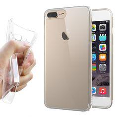Apple iPhone 7 Silikon skal Transparent Apple iPhone 7 Tunt transparent silikon  skal skyddar Apple iPhone 7 ifrån repor 3593091f3d041