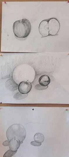 Waldorf b&w drawings, 6th grade