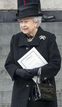 Queen/**** at Margaret Thatcher's funeral