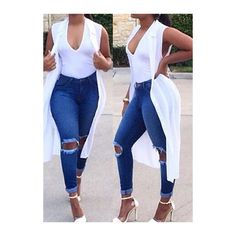 Rotita Cutout Design Mid Waist Denim Blue Jeans ($25) ❤ liked on Polyvore featuring jeans, outfit, pants, blue, cut-out jeans, skinny leg jeans, denim skinny jeans, print skinny jeans and patterned jeans