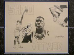 Shaquille O'Neal- Shaq signed drawing