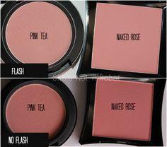 Pink Tea (MAC) vs. Naked Rose (Illamasqua).