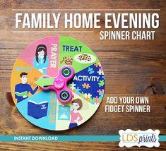 diy family home evening assignment board church ideas pinterest