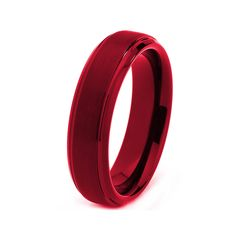 Red Titanium Ring Red Men Titanium Rings Red by GiftFlavors, $247.77