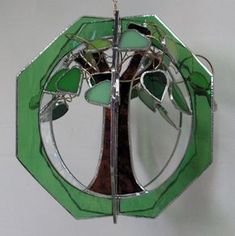 Tree Of Life in Stained Glass Suncatcher Whirl