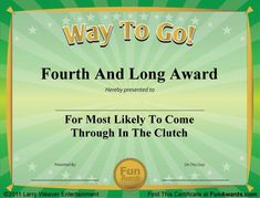 Download 101 funny certificates to give family, friends, and teammates. These funny award certificates and gag certificate templates from Funny Awards will ...