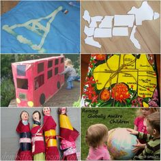 Cultural Activities for Kids to explore the world on It's Playtime.