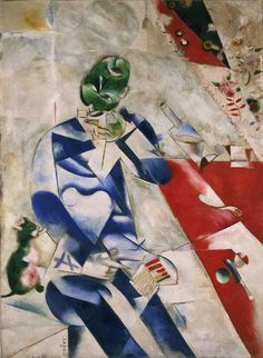Marc Chagall, The Poet (Half past three)