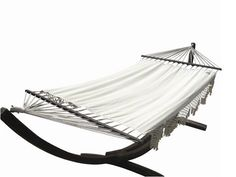 Sit back, relax and indulge with a refreshing beverage while listening to your favorite music on the Coco Deluxe Hammock from Buy Hammocks Online. Outdoor Furniture Online, Outdoor Lounge, Outdoor Decor, Outdoor Settings, Outdoor Entertaining, Sun Lounger, Hammocks, Cream, Milan