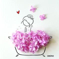 Ideas For Fashion Illustration Collage Flower Fashion Illustration Collage, Illustration Art, Illustrations, Flower Collage, Flower Art, Buch Design, Arte Floral, Flower Petals, Dried Flowers