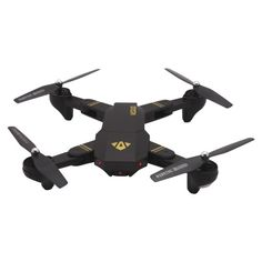 XS809W 3D Flip 2.4GHz Foldable Quadcopter with 2MP Camera & LED Light & Remote Control, Headless Mode, One Key Return(Black)  1. 6-axis gyroscope ensures a stable flight.  2. Up to 10 minutes flying time.  3. Support ascend, descend, forward, backward, sidewards flight, 3D flip, hand throwing flying (not too high), headless mode and one key return.  4. High / Medium / Low speed available.  5. 2MP camera, supports WiFi real time video transmission. Drone Remote, Rc Drone, Drone Quadcopter, Foldable Drone, Wifi, Fashion Styles