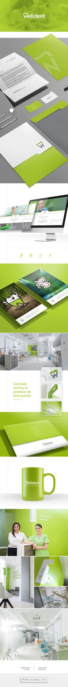 Welldent, dentist brand identity by Diseño Dos Asociados #branding #stationary…