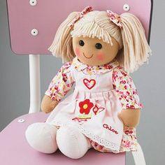 rag doll by the alphabet gift shop | notonthehighstreet.com I like the Bella doll