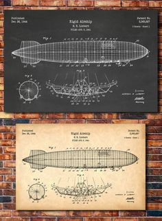 Airship Patent Print Art 1944 by CatkumaPatentPress on Etsy