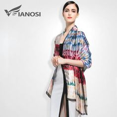 Top Quality Print Silk Scarf Women Soft Shawls and Scarves Butterfly Pattern Fashion Accessories
