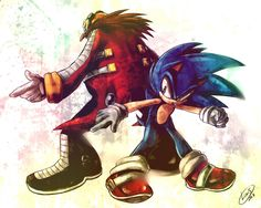 Sonic and Eggman by LeonStar123.deviantart.com on @deviantART