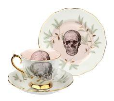 Skull on Royal Albert teacup