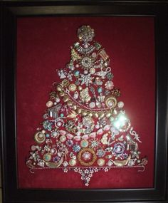 Vintage - Jewelry Christmas Tree.  I have one of these similar passed down from my mom.  :)  Would love to make a few myself.